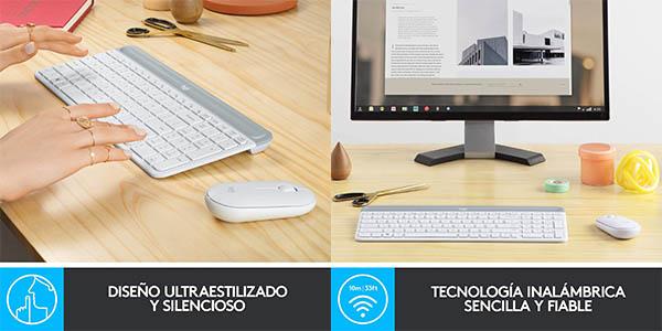 Combo teclado y ratón inalámbrico Logitech MK470 barato