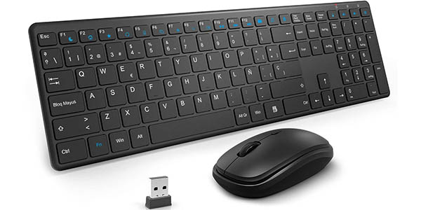 Set de teclado y ratón inalámbricos TedGem