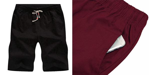Pantalones cortos Leezepro hombre baratos