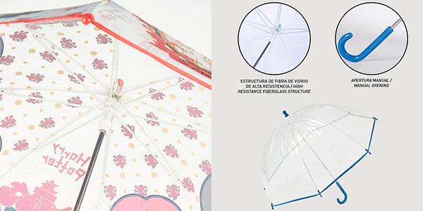 Paraguas infantil Harry Potter transparente de 71 cm barato