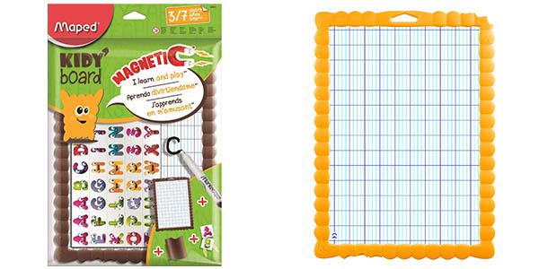 Kit de pizarra magnética de dos lados con letras para aprender Maped Kidy' Board