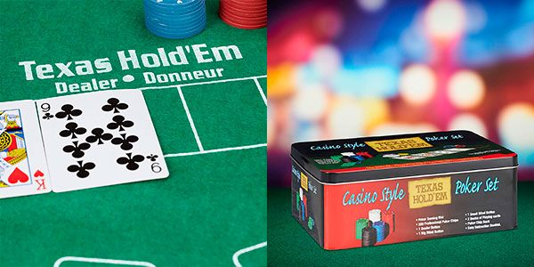 Set de póker Relaxdays con tapete, 2 barajas y 200 fichas barato
