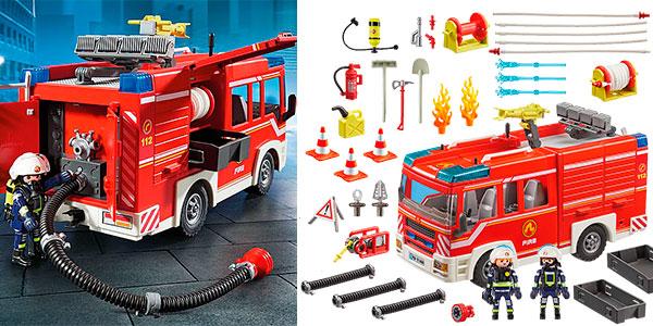Set Camión de Bomberos con luz y sonido de Playmobil barato
