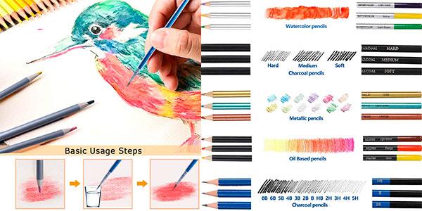 Set Furnizone de 72 lápices acuarelables barato