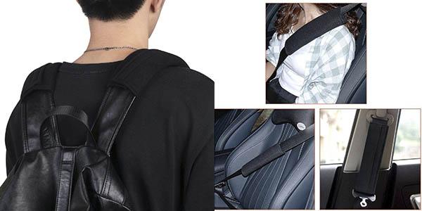 Uraqt almohadillas cinturón seguridad coche oferta