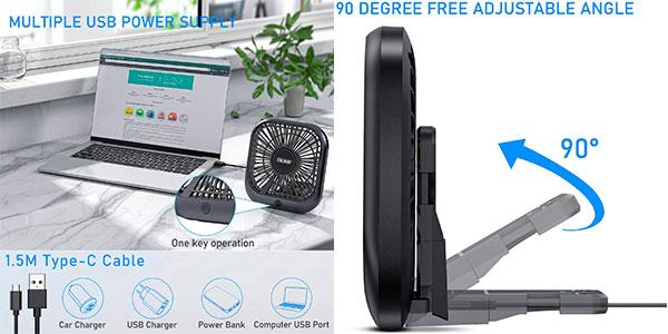 Ventilador USB Blukar de 3 velocidades barato