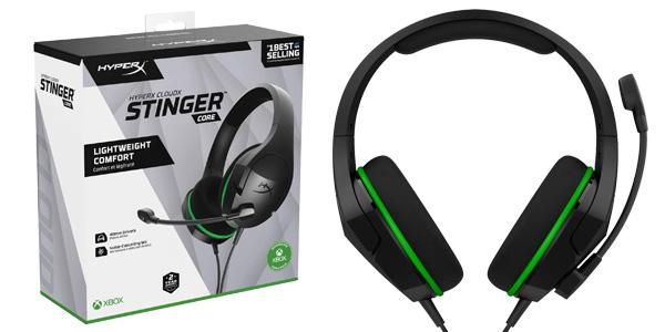 Cascos de gaming HyperX HX-HSCSCX-BK CloudX Stinger Core para Xbox One baratos en Amazon
