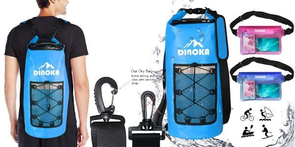 Bolsas estancas Dinoka de 10L/20L/30L + bolsa teléfono impermeable barata en Amazon