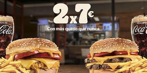 Burger King promoción 2 menús 7€