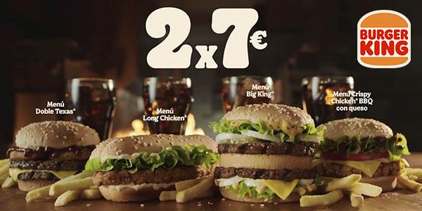 Burger King promoción menús