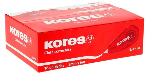 Pack x16 cintas correctores Kores 228051 baratas en Amazon