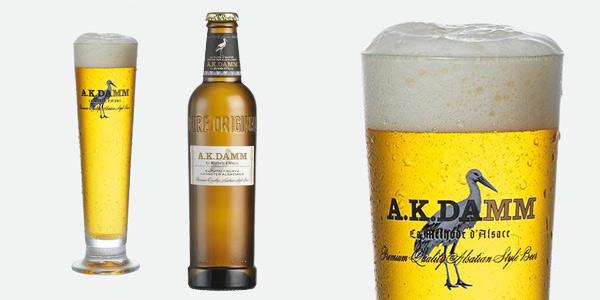 Caja x24 Botellas de cerveza A.K. Damm Alsaciana de 33 cl chollo en Amazon