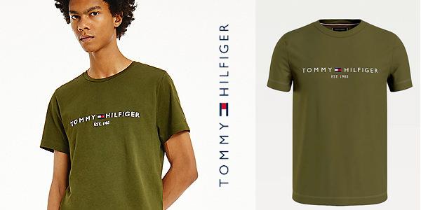 Camiseta de manga corta Tommy Hilfiger Organic Cotton Logo para hombre chollo en Amazon