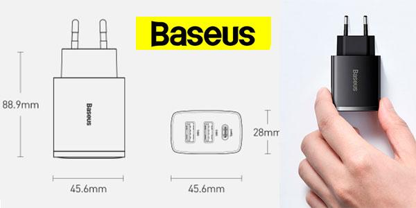 Cargador Baseus USB-C de 30 W barato