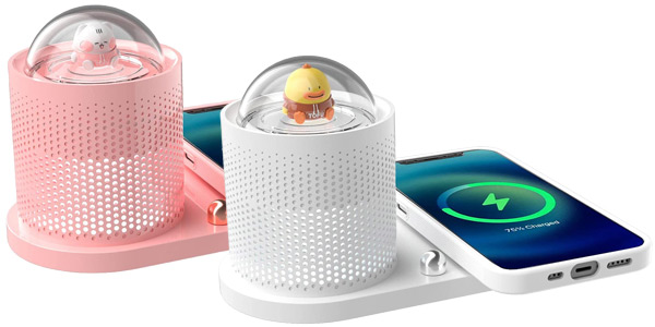 Cargador inalámbrico Icarer Family + lámpara divertida barato en Amazon