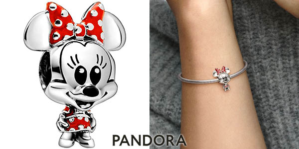 Abalorio Disney Minnie Mouse para pulseras Pandora