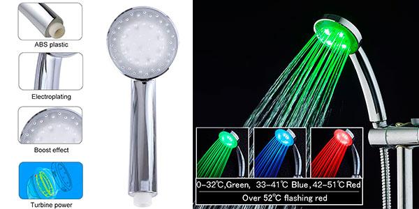Chollo Alcachofa de ducha Ledgle con luz LED