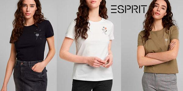 Chollo Camiseta Esprit Be Cool Be Kind para mujer