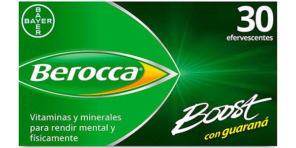 Chollo Complejo de vitaminas y minerales Bayer Berocca Boost con cafeína y guaraná de 30 comprimidos
