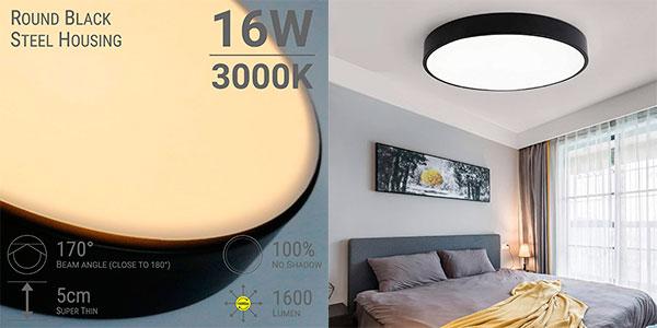 Chollo Lámpara de techo LED Riklight de 16 W