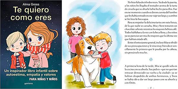 """Chollo Libro """"Te quiero como eres"""" de Alma Gross en tapa dura"""