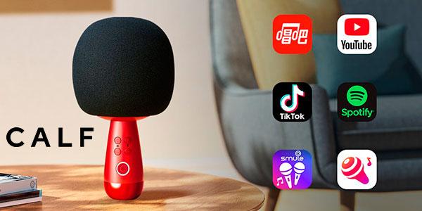Chollo Micrófono karaoke Calf G2 con Bluetooth