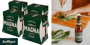Chollo Pack de 24 botellines de cerveza San Miguel Magna de 25 cl