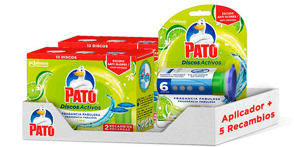 Chollo Pack Aplicador WC Pato Discos Activos + 5 recambios