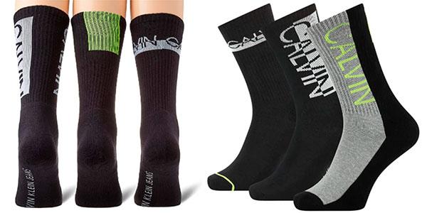 Chollo Pack de 3 calcetines altos Calvin Klein para hombre