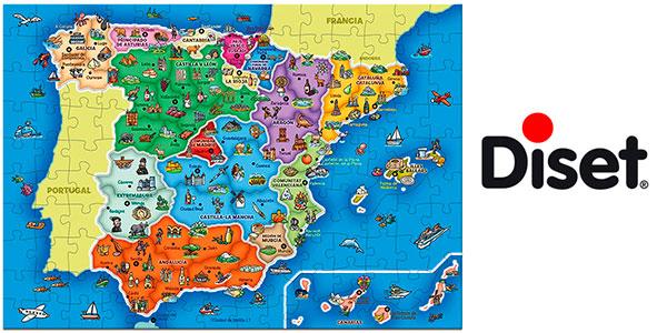 Chollo Puzle educativo Provincias y Autonomías de España de Diset