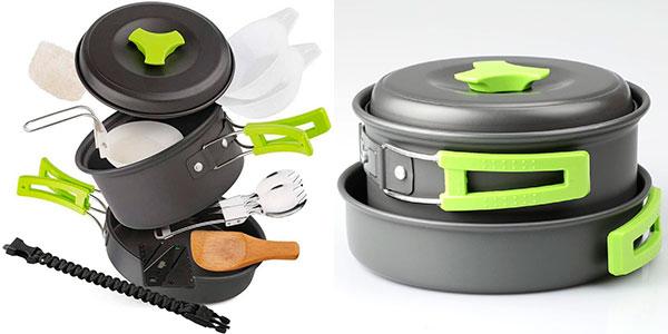 Chollo Set EXTSUD de utensilios de cocina de camping para 1-2 personas