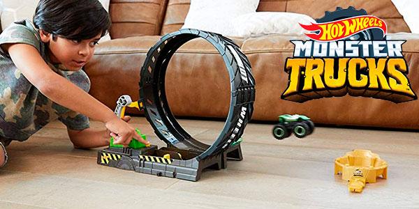 Chollo Set Reto de Loopings Épicos de Hot Wheels Monster Trucks con 2 coches