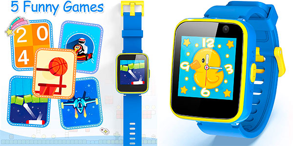 Chollo Smartwatch infantil AGPTEK con cámara selfie y linterna
