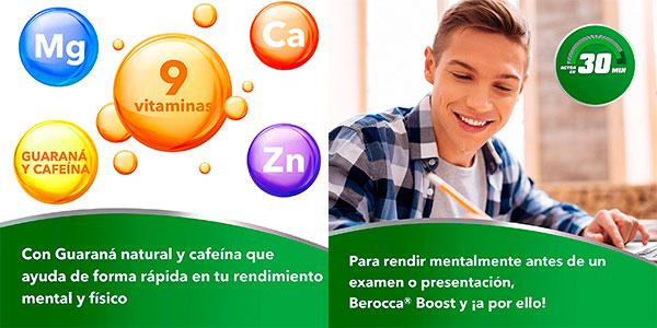Complejo de vitaminas y minerales Bayer Berocca Boost con cafeína y guaraná de 30 comprimidos barato