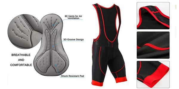 Conjunto Maillot de ciclismo Skysper con jersey + pantalones cortos culote chollo en Amazon