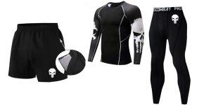 Conjunto de ropa de compresión para hombre barata en AliExpress