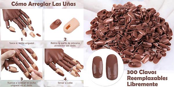 Creamify mano uñas artificiales práctica manicura oferta