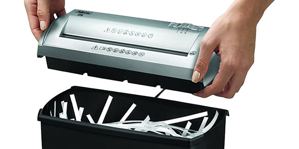 Destructora trituradora de papel de 5 hojas Fellowes Trito 2S para corte en tiras oferta en Amazon