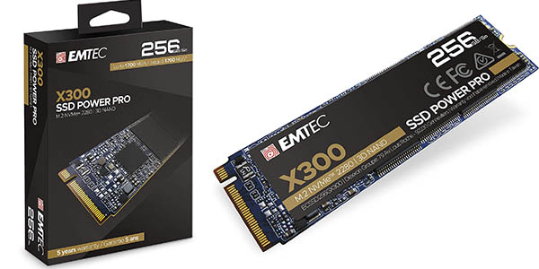 Disco SSD Emtec X300 Power Pro de 256 GB