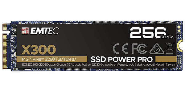 Oferta Disco SSD Emtec X300 Power Pro de 256 GB M.2 NVMe PCIe