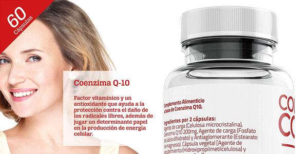 Envase x60 cápsulas Colágeno Coenzima Q10 200 mg chollo en Amazon