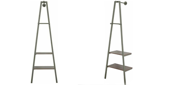 Armario burro de metal FurnitureR 5439 con 2 estantes y 3 ganchos barato en ManoMano