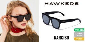 Gafas de sol unisex Hawkers Black Diamond Narciso baratas en AliExpress Plaza