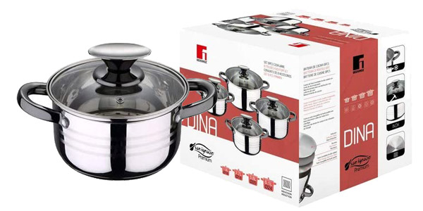 Batería de cocina x8 Piezas San Ignacio Premium Dina apta para inducción chollo en AliExpress