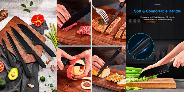 Juego de cuchillos de cocina de 16 piezas con soporte barato