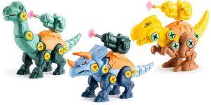 Juego de construcción de dinosaurios para niño barato en AliExpress