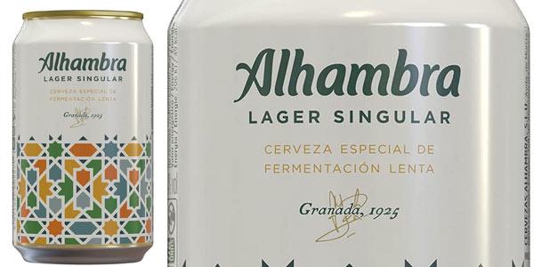 Cerveza Alhambra Lager Singular en oferta en Amazon