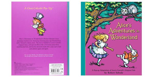 Libro Pop Up Alicia en el país de las maravillas desplegable en inglés barato en Amazon
