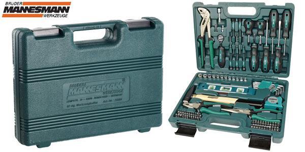 Maletín de herramientas Brüder Mannesmann de 87 piezas barato en Amazon