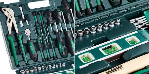 Maletín de herramientas Brüder Mannesmann de 87 piezas oferta en Amazon